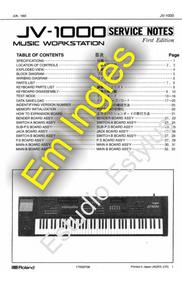 Manual Do Teclado Roland Jv 1000 Em Inglês