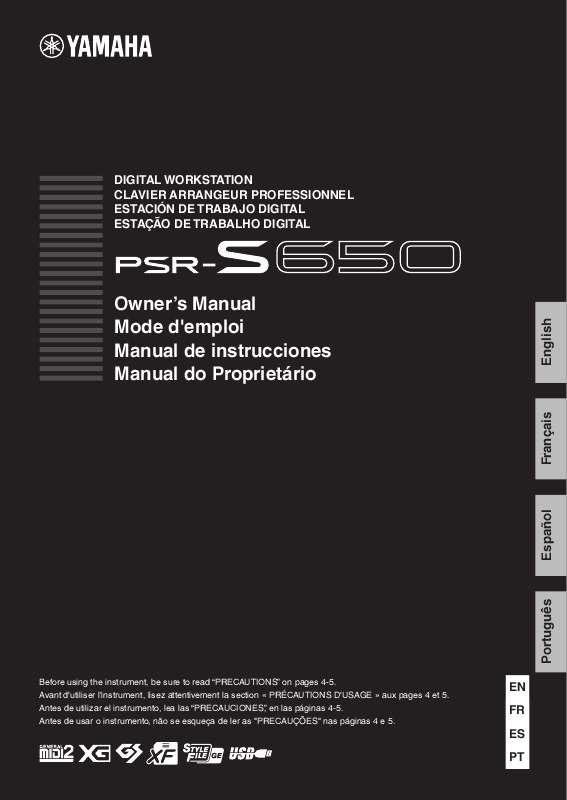 Manual Do Teclado Yamaha Psr