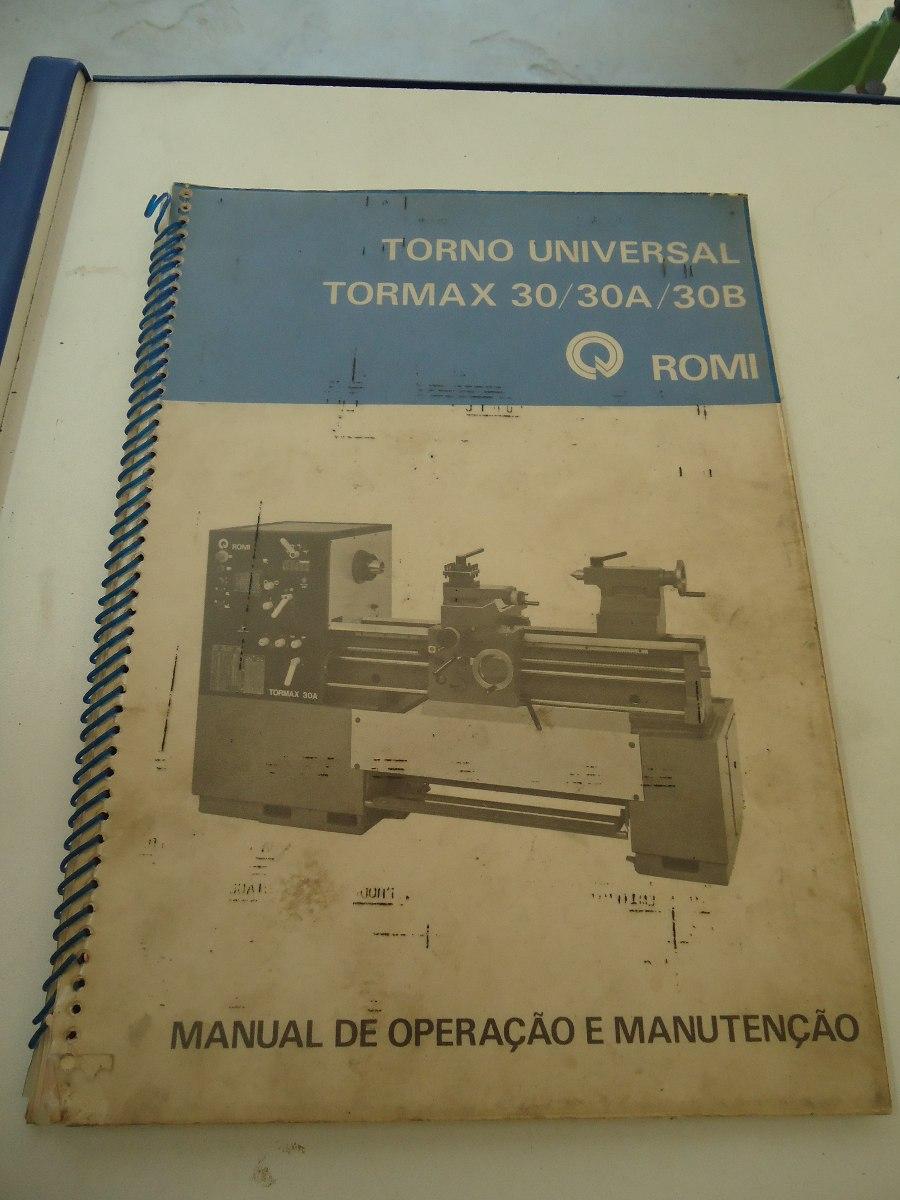 manual do torno romi tormax 30 a b r 120 00 em mercado livre rh produto mercadolivre com br Torno CNC Torno Para Madera