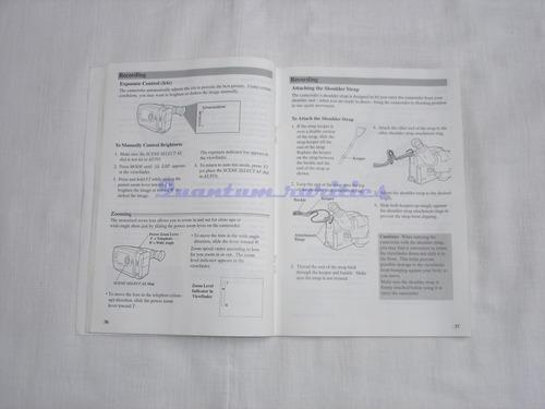 manual do usuario filmadora vhsc cc614 rca - usado no estado