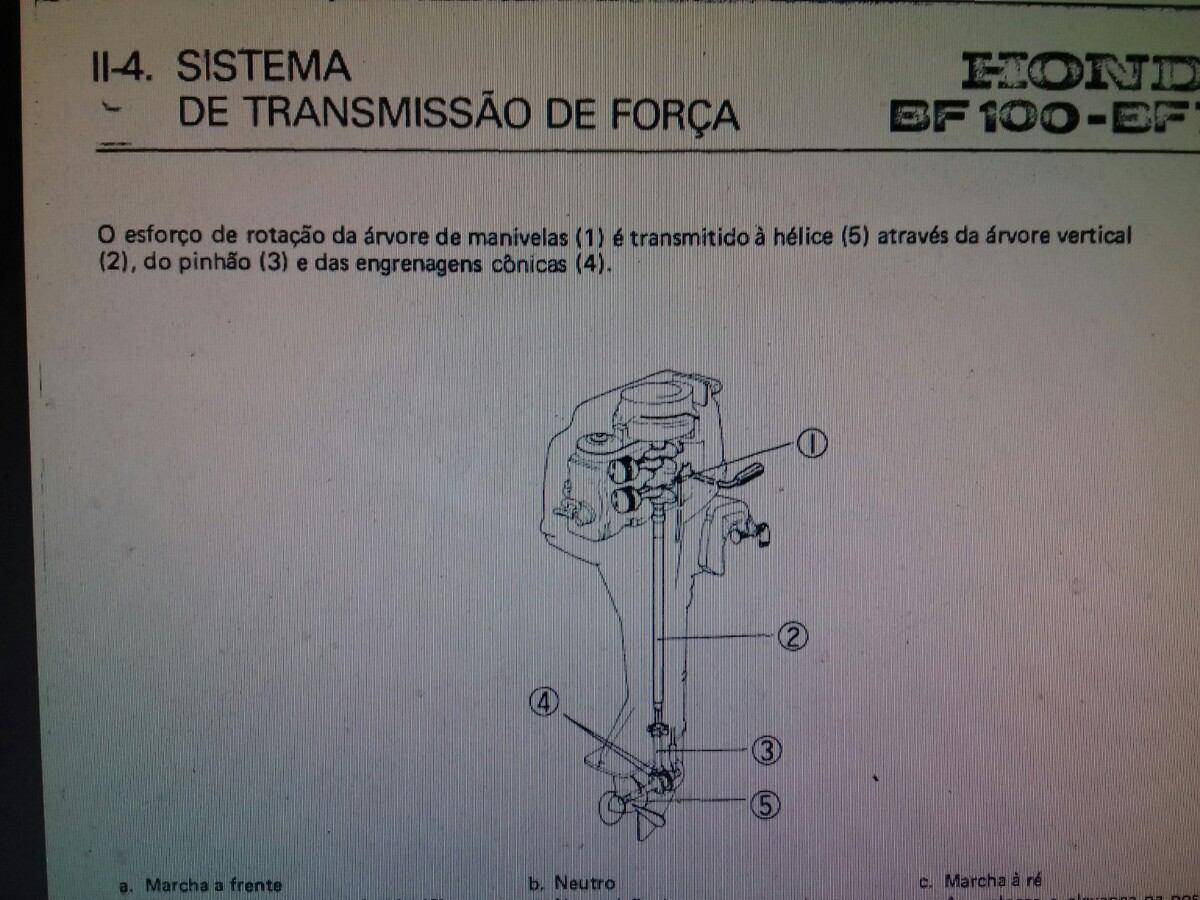Manual E Peas Do Motor De Popa Honda 75 Hp 10 R 5000 Em Bf15 Wiring Diagram Carregando Zoom