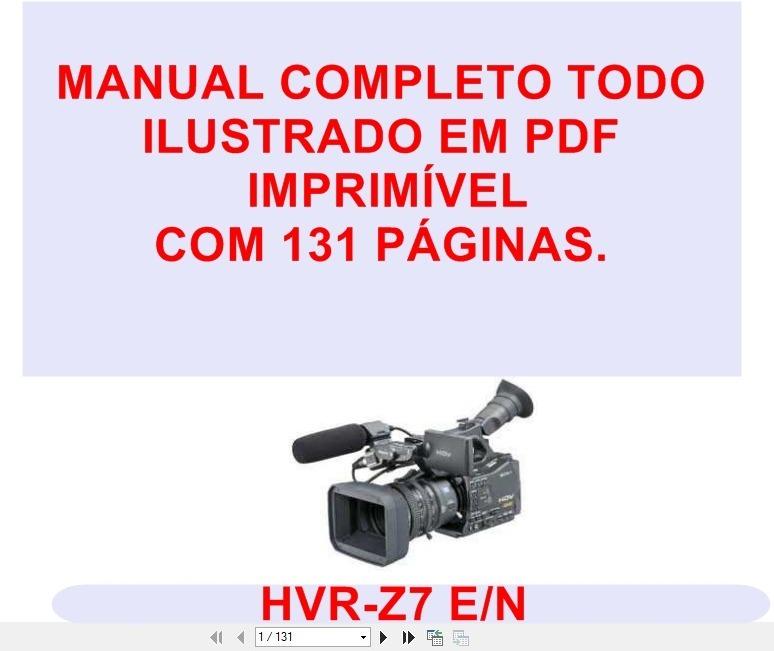 Sony Hvr Z7 Manual Pdf