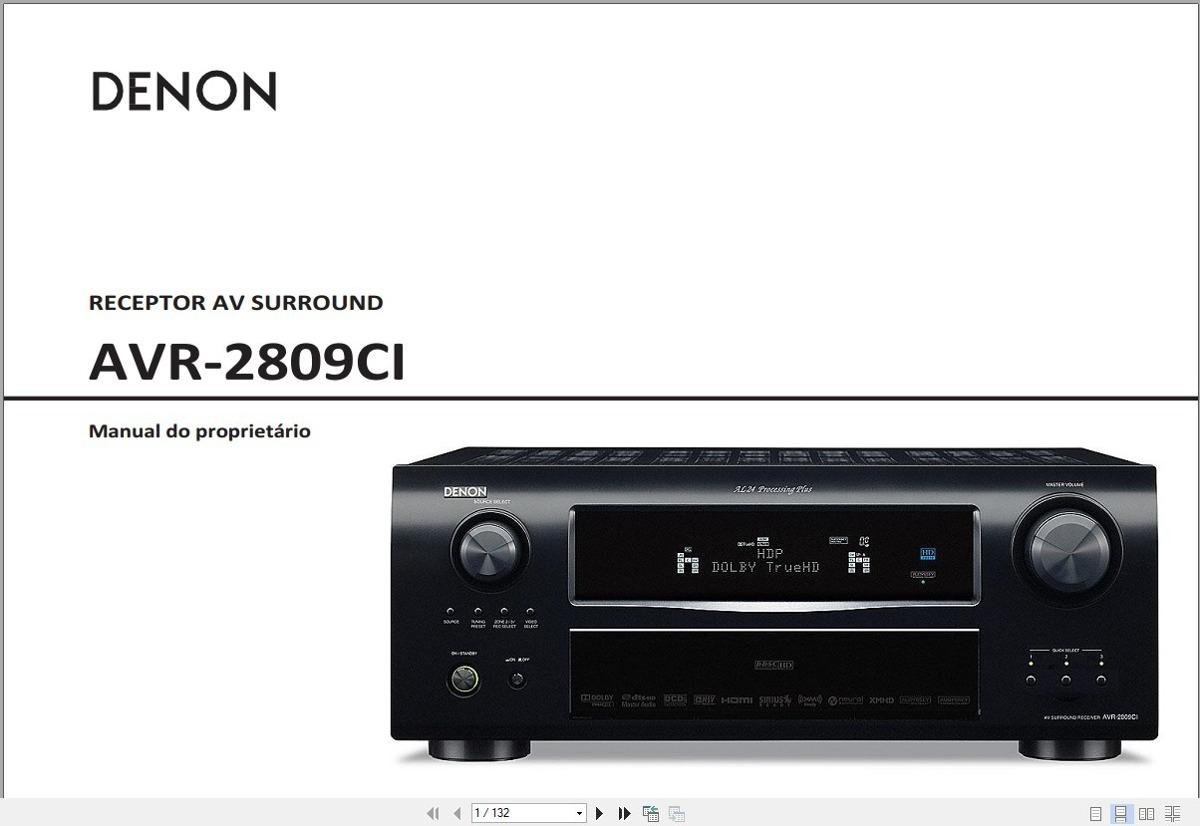manual em portugu s denon avr 2809ci r 29 99 em mercado livre rh produto mercadolivre com br denon avr 2809ci receiver manual Denon Receiver AVR 2809Ci