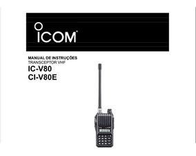 Manual Em Português Do Rádio Ht Icom Ic-v80