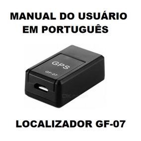 Manual Em Português Gps Localizador Rastreador Gf-07 Complet