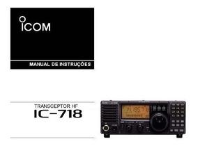 Manual Em Português Radio Icom Ic-718