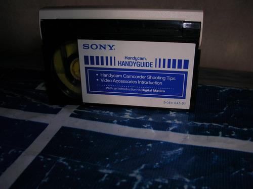 manual en 8mm analogico p/ camara video sony hi 8 -