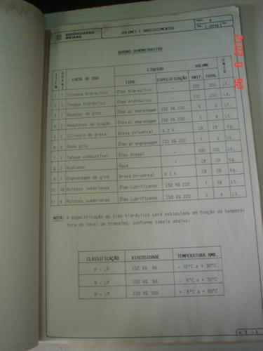 manual escavadeira h30 mannesmann demag original trator hidr