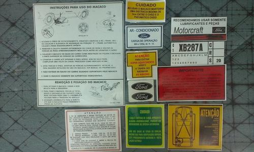 manual etiquetas ford maverick motores 6cil 4cil gt v8 302