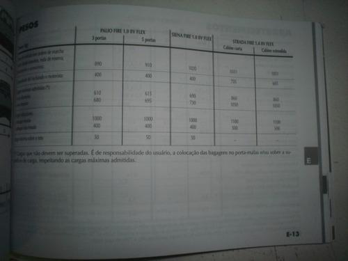 manual fiat palio siena strada 2006 fire 1.0 1.4 8v flex