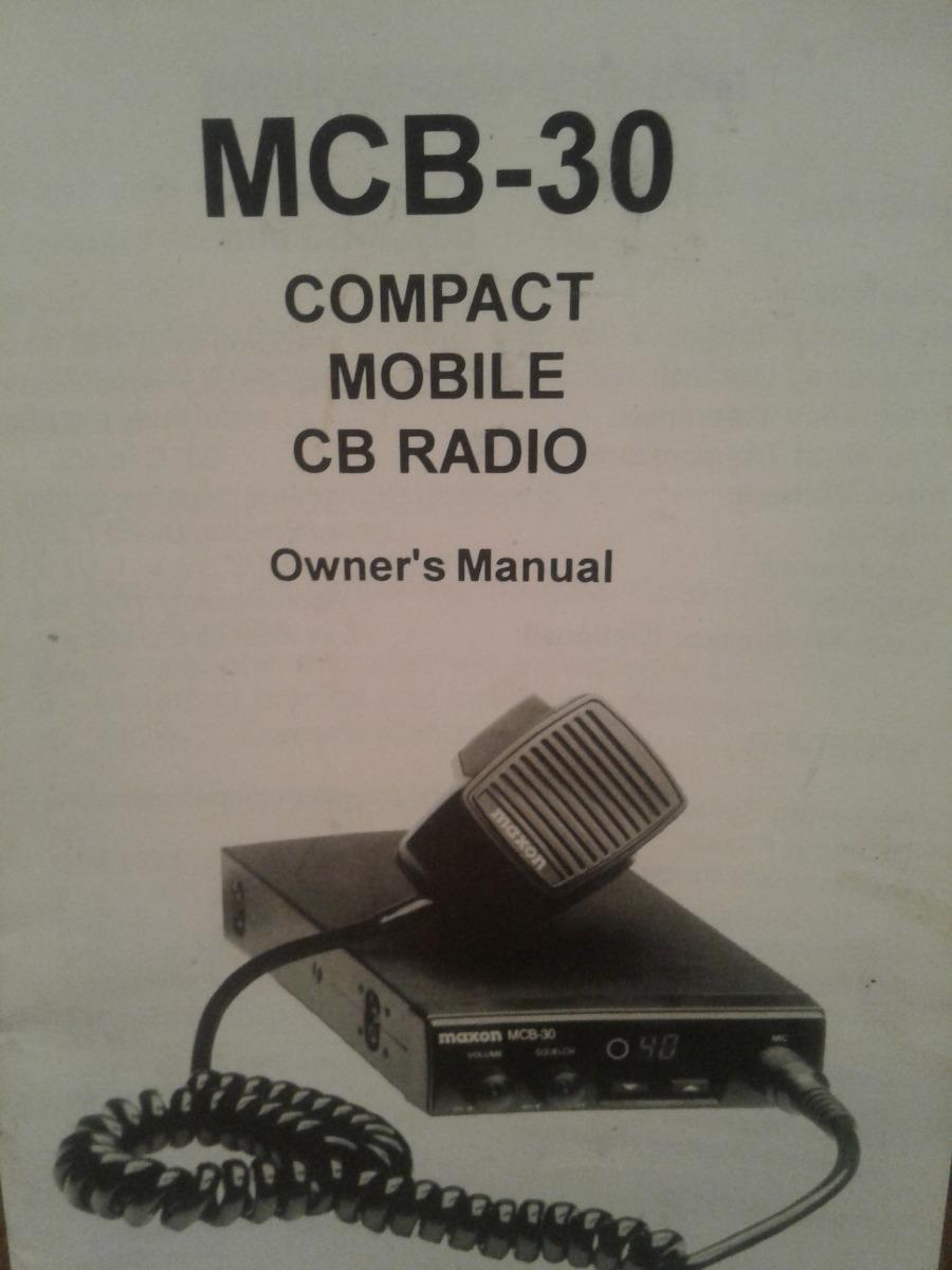 manual folleto en ingles de maxon mcb 30 banda ciudadana 100 00 rh articulo mercadolibre com ar Maxon MCB CB Radio 10A maxon mcb-30 service manual