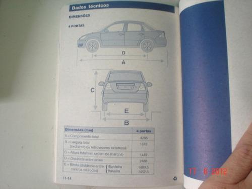 manual ford fiesta 2006 2007 original proprietario sedan hat