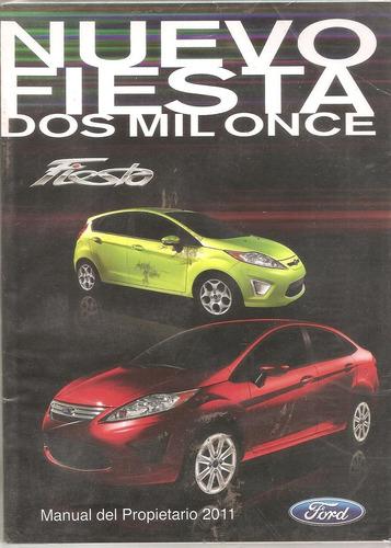 manual ford fiesta- año 2011 en adelante-original de usuario