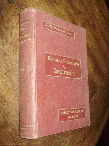 manual formulario del constructor tomo 2 soroa y castro 1918