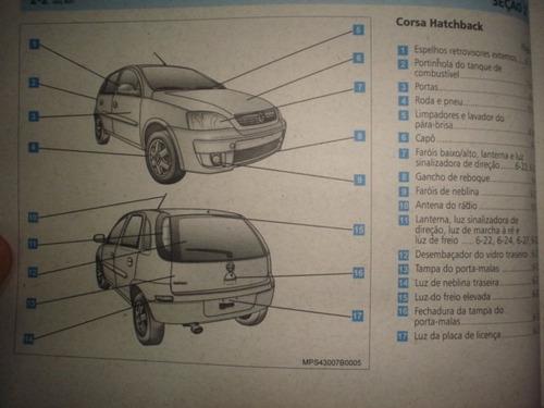 manual gm corsa 2006 2007 original chevrolet hatch sedan