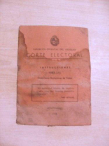 manual instrucciones para las comisiones receptoras voto1958