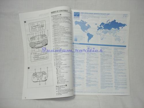 manual instruçoes csd-es60/50/30 cd st radio cassete aiwa