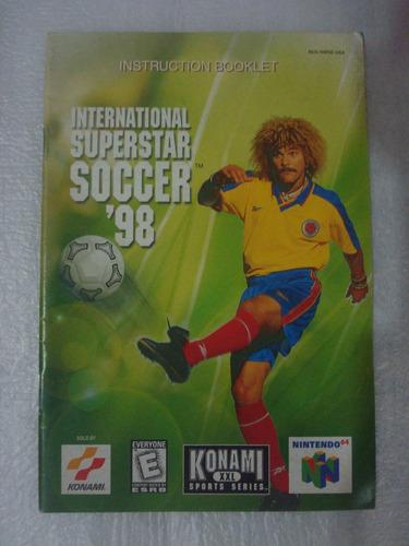 manual international superstar soccer 98 nintendo 64 game us