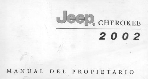 manual jeep cherokee  año 2002  -original en español