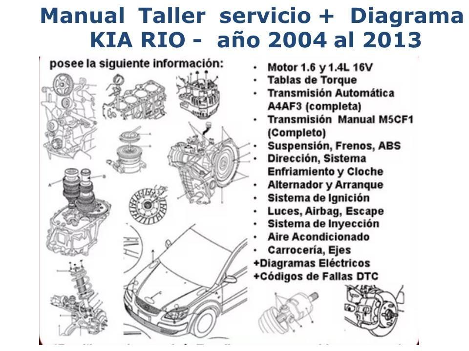 Manual Kia Rio 1 5 Servicio Taller A U00f1os 2003 A 2013   3 40 En Mercado Libre