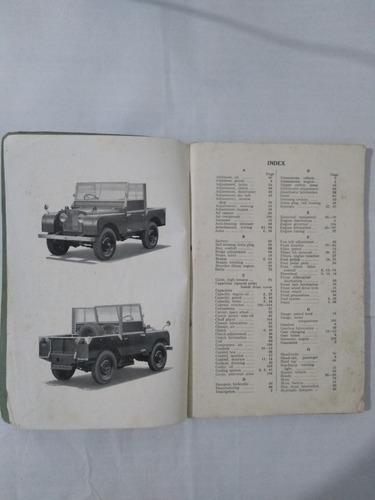 manual land rover de 1951 raro