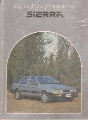 manual manual de ford sierra ghia/ gl/ rural / xr4 -`1988/91