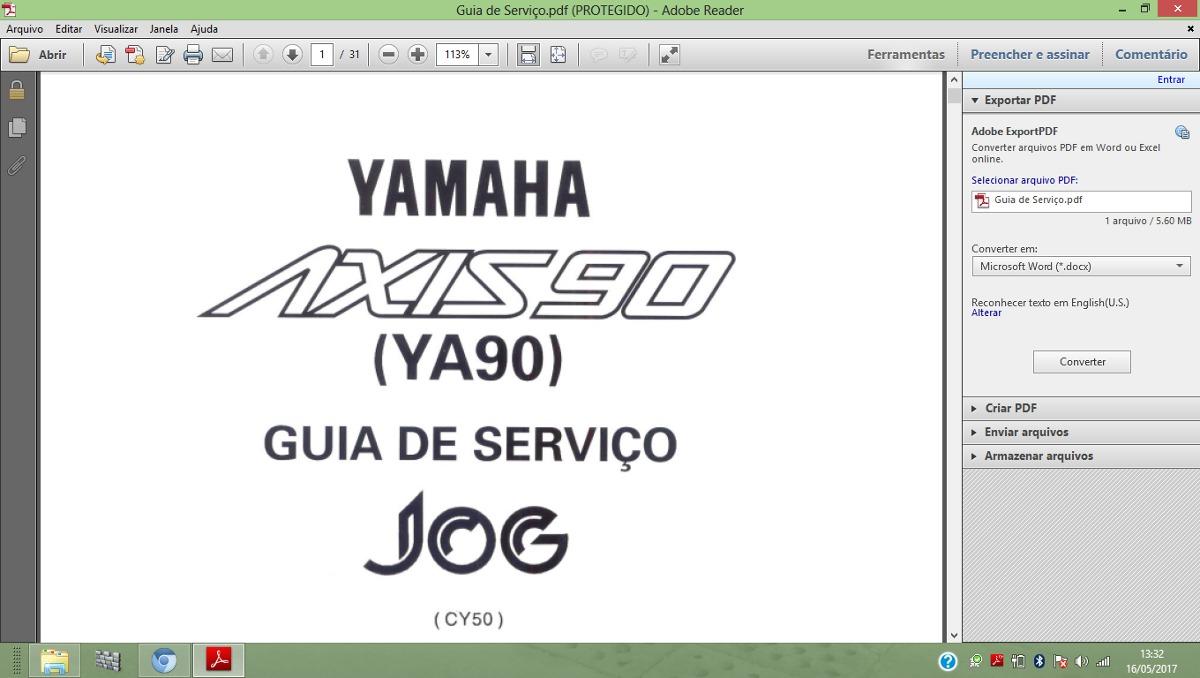 Manual Mecanica Eletrica Em Pdf Completo Yamaha Jog Axis 90*