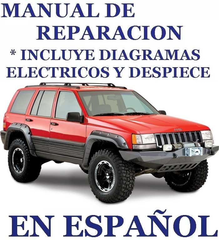 manual mecanica reparaci n jeep grand cherokee 93 98 espa ol bs rh articulo mercadolibre com ve 93 Cherokee Sport manual jeep cherokee 93