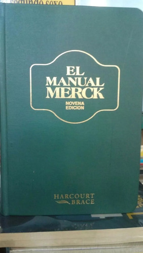 manual merck 9 edicion,excelente estado