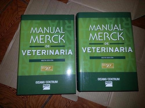 manual merck de veterinaria 6ta. edición como nuevo