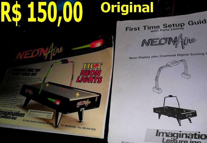 Manual mesa de hockey air neon aire r 30 00 em mercado livre - Mesa de hockey de aire ...
