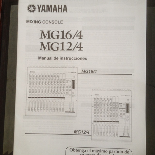 manual mezcladora yamaha mg 16/4 y mg 12/4