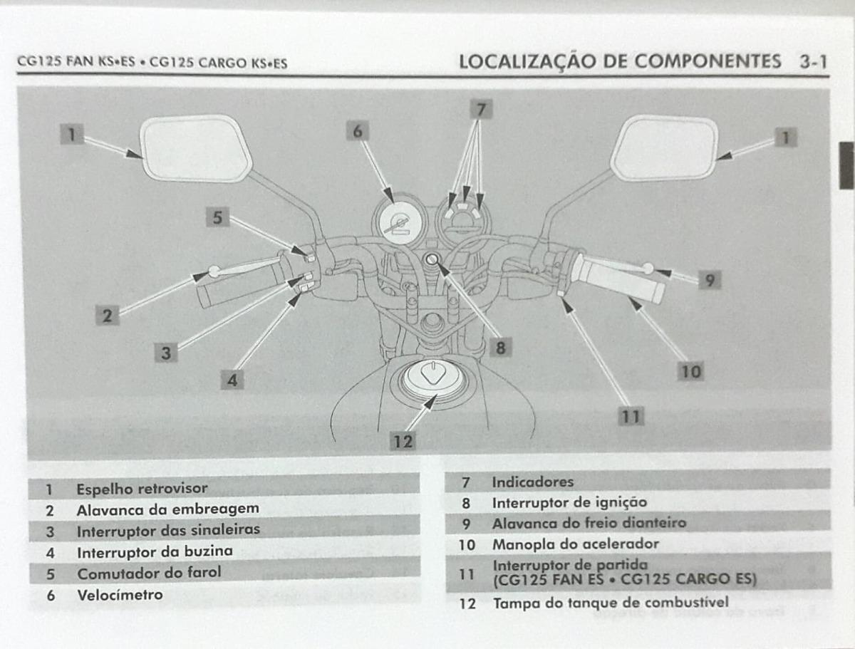 Manual Moto Honda Cg 125 Fan/cargo Ks Es Original