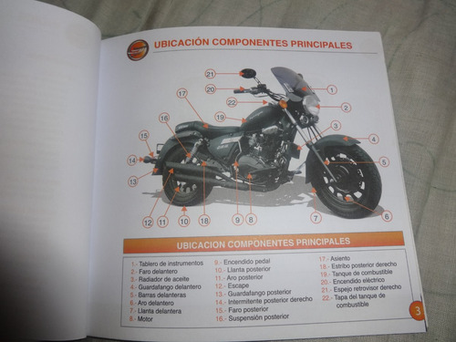 manual moto keeway superlight 200 y terminator cruiser 250