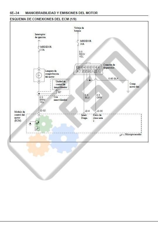 Manual Motor Chevrolet Luv Dmax 2 4 Diagrama Electrico