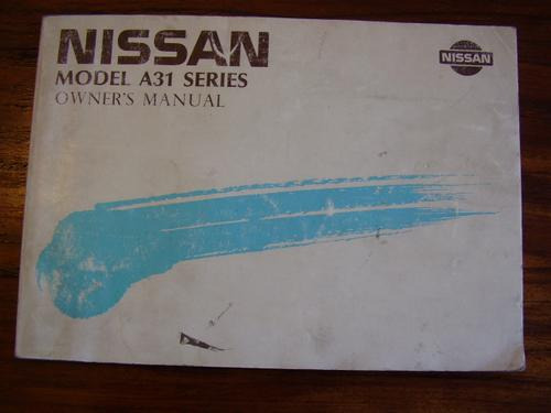 manual nissan a31 original