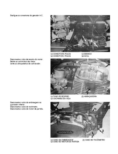 manual oficina serviço motocicleta honda cb 400 1980