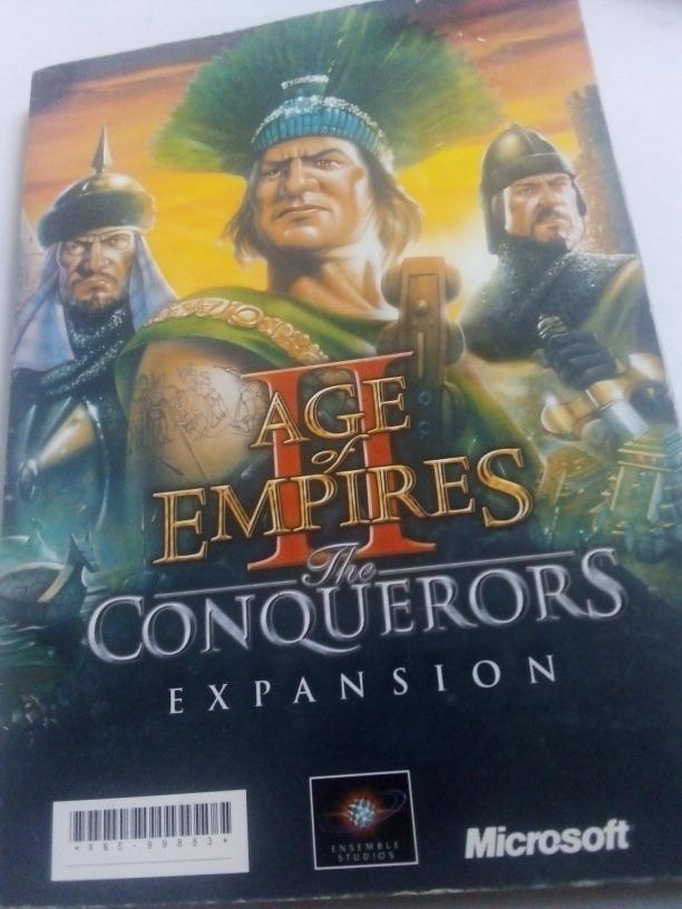Manual Original Age Of Empires Ii Y Expansion Conquerors - $ 180 00