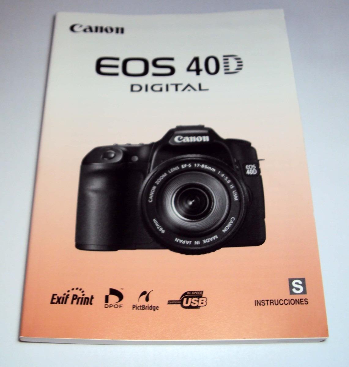 manual original canon eos 40d s ingles impr japao r 10 00 em rh produto mercadolivre com br EOS Rebel T5 vs 40D EOS-40D Flash Button