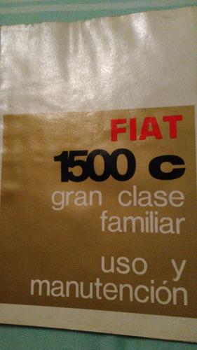manual original de propietario fiat 1500