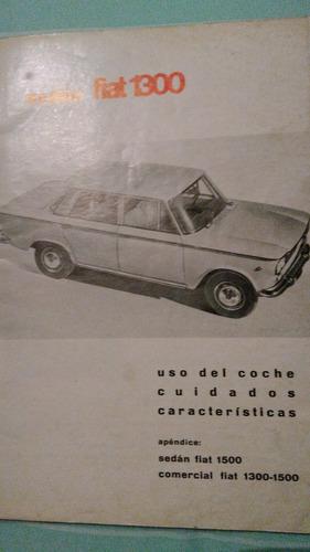manual original de propietario fiat 1500  cortito