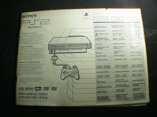 manual original del playstation 2