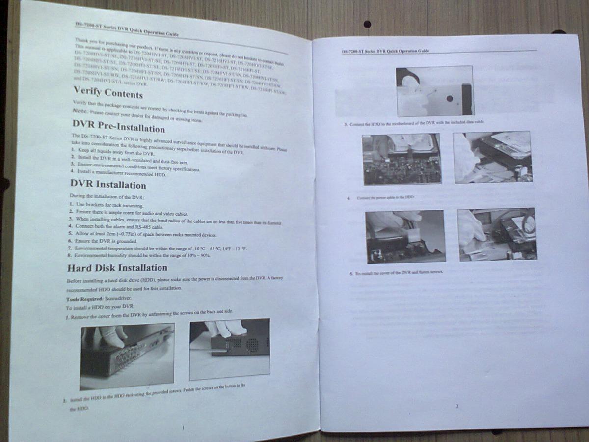 Manual Original Dvr Hikvision Ds-7200