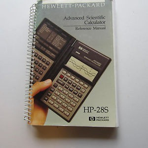 manual original hewlett packard hp-28s made in usa