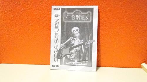 manual original- mr. bones-  sega saturn- tec toy