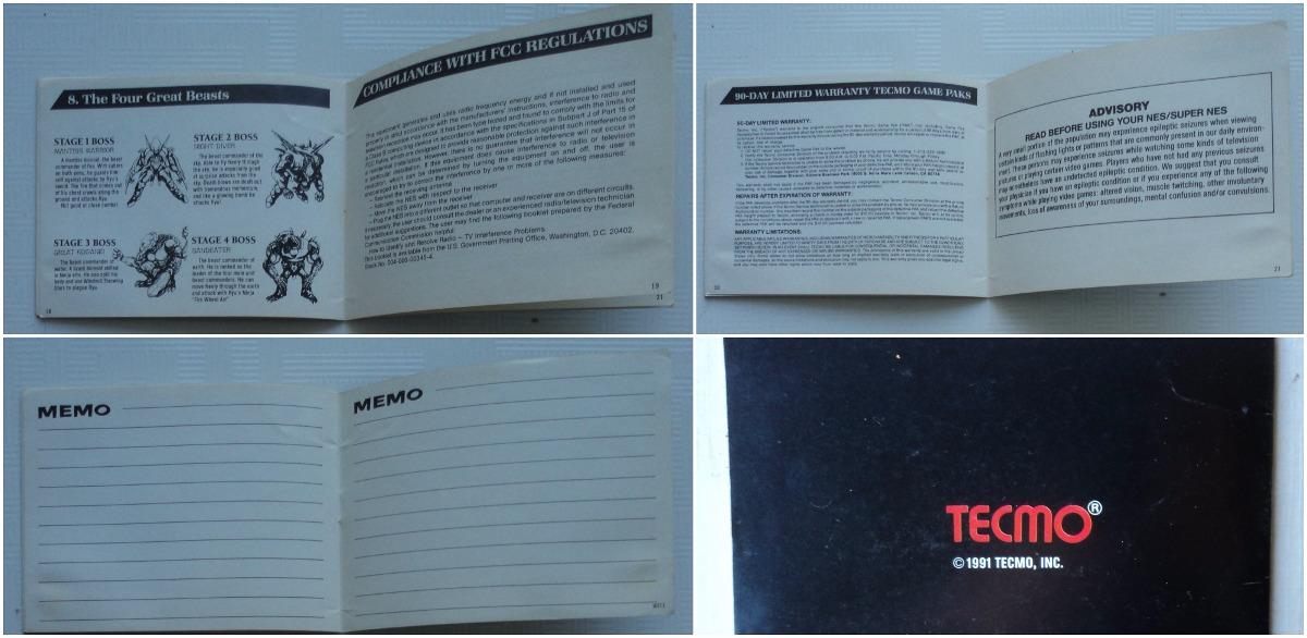 Manual Original Ninja Gaiden 3 Nes Famicom R 226 00 Em Mercado