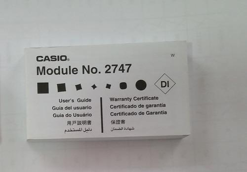 manual original relógio casio aw-80 aw-81 module 2747