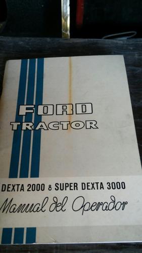 manual original tractor ford super dexta 2000 y 3000