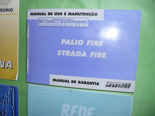 manual  palio - strada  fire  ano  2003  original- completo
