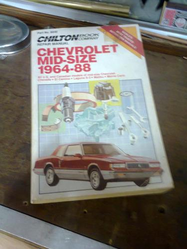manual para chevrolet's de 1964 a 88, impecavel americano
